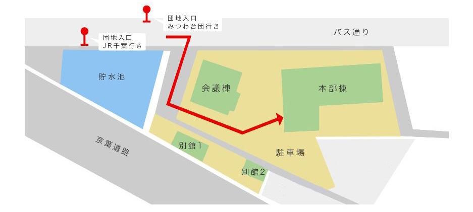 バス停からの地図
