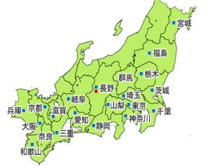 募集エリア地図